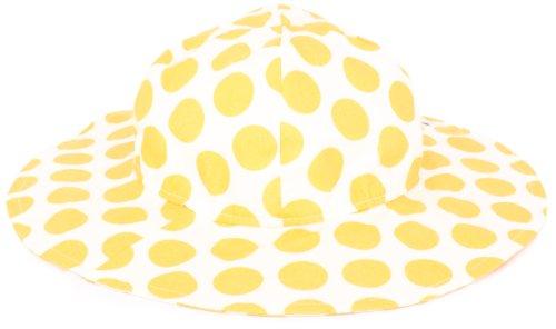 Flap Happy Dots (Flap Happy Baby Girls' UPF/UV50+ Floppy Hat, Mango Dot, Small)
