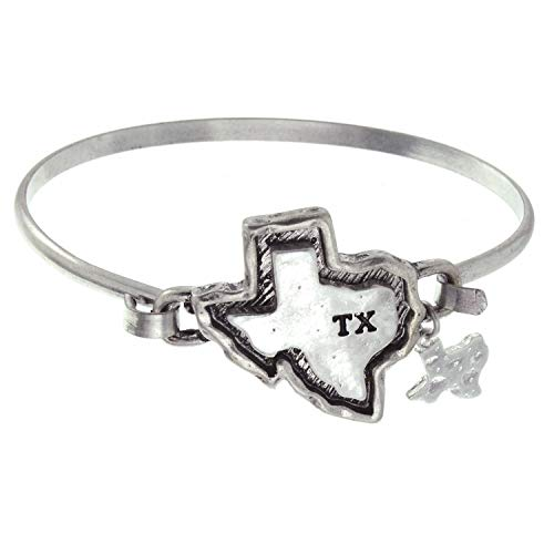 (PammyJ State of Texas Bangle with Texas Charm Bracelet)
