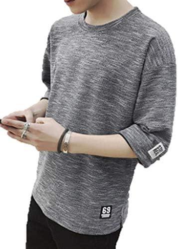 [ウルークレア] メンズ Tシャツ メンズ 半袖 七分袖 五分袖 メッシュ素材 カットソー 軽量 夏服 サマーニット
