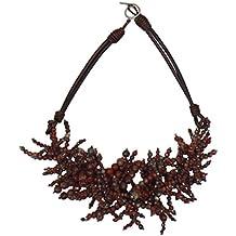 Brunello Cucinelli Women's Red Stone 100% Leather Strap Necklace