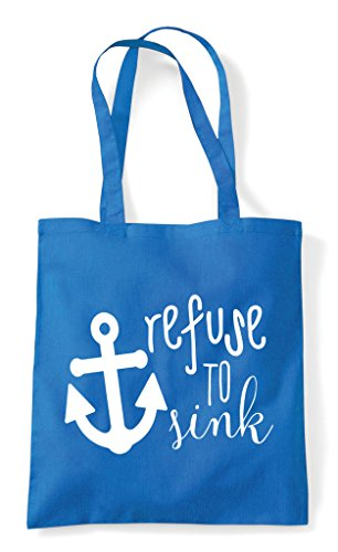 Refuse Strength Sapphire To Anchor Shopper Statement Sink Bag Tote nSr6xS