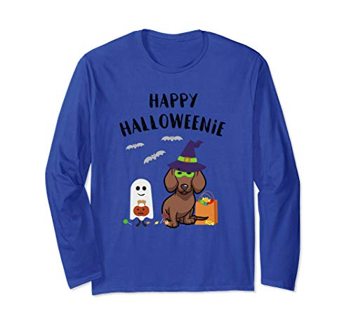 Halloween Costumes For Doxies (Dachshund Halloween, Funny Dachshund Happy Halloweenie  Long Sleeve)