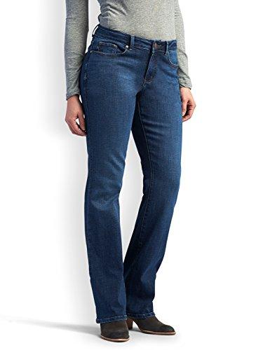 LEE Women's Modern Series Curvy Fit Bootcut Jean With Hidden Pocket, Cascade, 14 - Bootcut Essentials Jeans