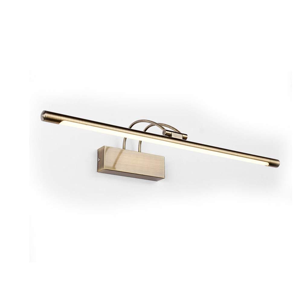 Kupfer   Weiãÿicht 14W65CM Spiegelfrontleuchte LED-Leuchte Badezimmerwandleuchte Wasserdicht und beschlagfrei, Kupfer Weißlicht, 14W65CM