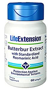 Life Extension Butterbur Extract with Standarized Rosmarinic Acid , 60 Softgels