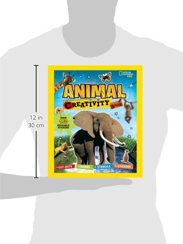 National Geographic Kids: Animal Creativity Book: Cut-outs, Games, Stencils, Stickers (Activity Books) by Brand: National Geographic Children's Books (Image #1)