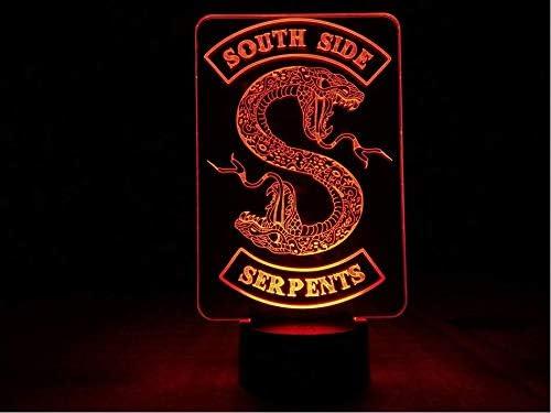 Insignias Riverdale Snake Logo Luz De Noche Led Southside Serpientes Decoración Letrero Cosas Riverdale Accesorios Regalo Lámpara De Mesa Dormitorio: Amazon.es: Iluminación