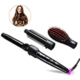 Hairbrush 3 in 1 Tube Change 3p Tube Curling Device Automatic Ceramic Hair Curler for Any Hair