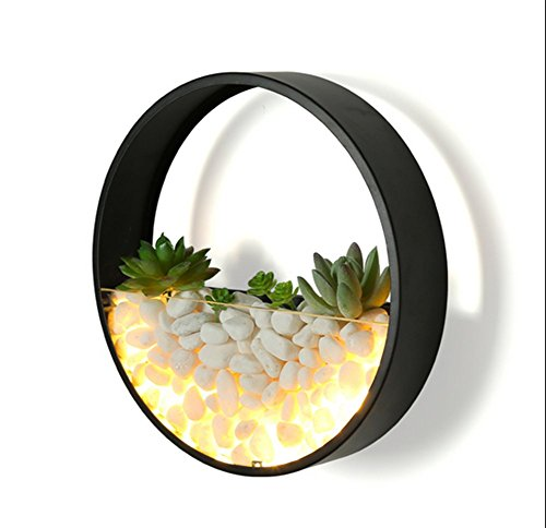 Cheap  Round Stone Wall Lamp,Iron Led Bedside Lamp Simple Decorative Lighting