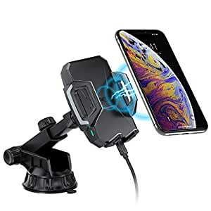 CHOETECH Wireless Car Charger, Adjustable Fast Wireless Charger Car Mount 7.5W Fast Charging iPhone XS XS Max XR X 8 Plus, 10W for Samsung Galaxy S10 S9 S9 Plus Note 9, 5W for all Qi Enabled Phones