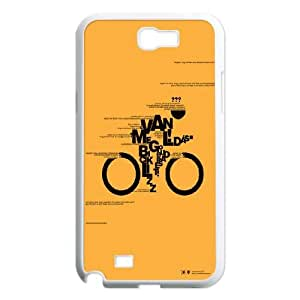 Samsung Galaxy N2 7100 Cell Phone Case White_Bicycle publicity Upfbt