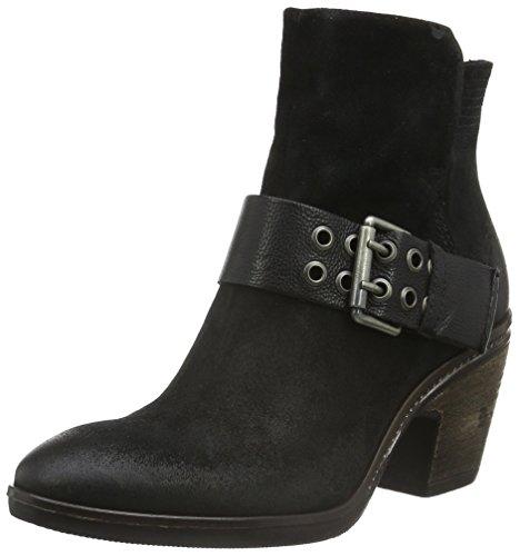 Mjus 566202-0401-6002, Zapatillas de Estar por Casa para Mujer Negro - negro