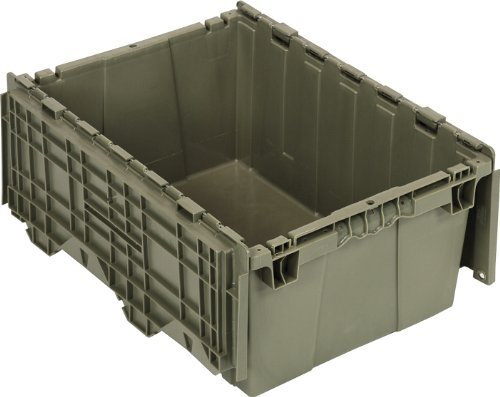 - Quantum QDC2115-9 Plastic Storage Container with Attached Flip-Top Lid, 21 x 15 x 9, Gray by Quantum Storage Systems