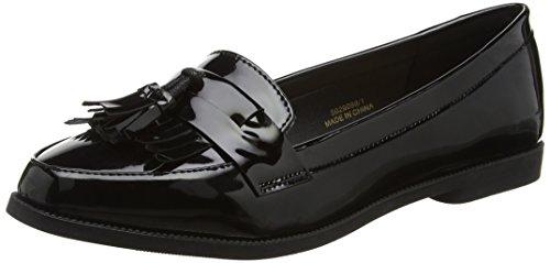 New Look Kairy-Patent Loafer, Bailarinas para Mujer Negro (Black)