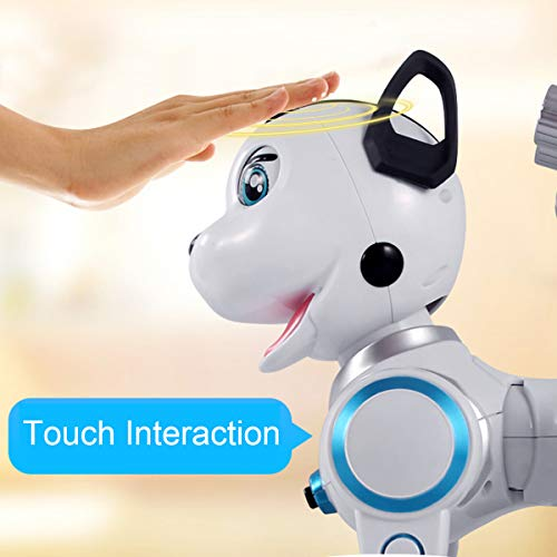 fisca Remote Control Robotic Dog RC Interactive Intelligent Walking Dancing Programmable Robot Puppy Toys Electronic Pets with Light and Sound for Kids Boys Girls Age 6, 7, 8, 9, 10 and Up Year Old by fisca (Image #2)