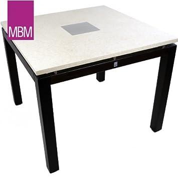 Mbm Gartentisch Marmor Ecru 90x90x74cm Tigerwood Ebony Tisch Amazon