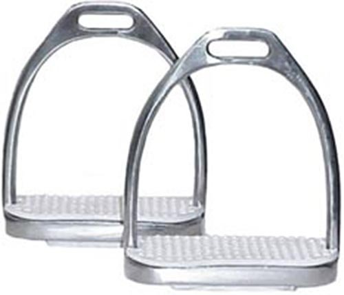 - Derby Originals Fillis Stainless Steel Stirrup Irons with Rubber Pads, Kids