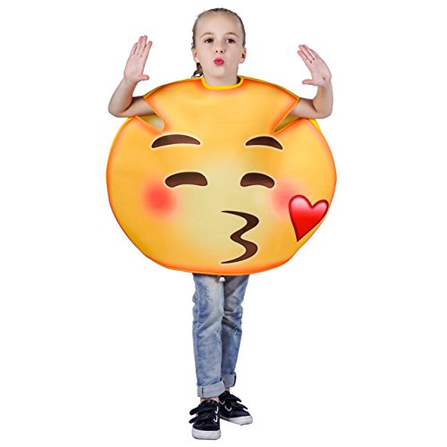 flatwhite Children Unisex Emoticon Costumes One Size (Blew a Kiss) -