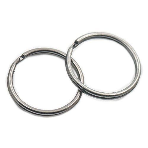 100 Pcs KeyChain Ring Keyring Connector Round Edged Split Buckle Gun black 1