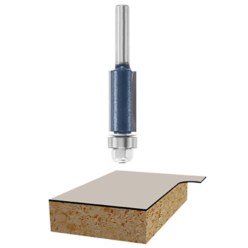 Bosch 85266M 1/2-Inch Diameter 1-Inch Cut Double Flute Laminate Flush Trim Router Bit 1/4-Inch Shank With Ball Bearing (Flush Trim Bit Bosch compare prices)
