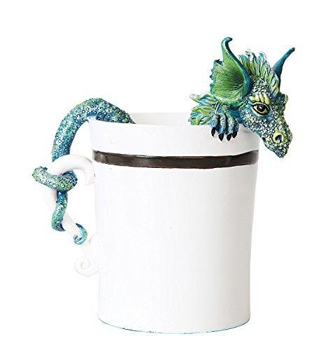 Mug Dragon - Amy Brown Fantasy Art Afternoon Tea Time Collection- I Need Coffee Mug Faery Tea Cup Fairies Statue (Coffee Morning Dragon)