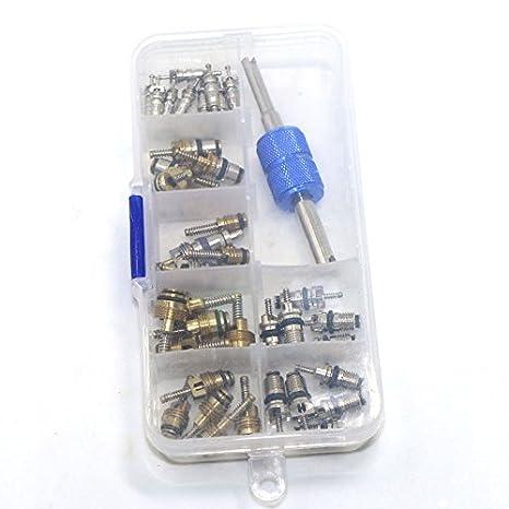 Hot 39x R12 R134A Kit de herramientas para quitar el núcleo de la válvula del neumático del aire acondicionado del coche: Amazon.es: Hogar