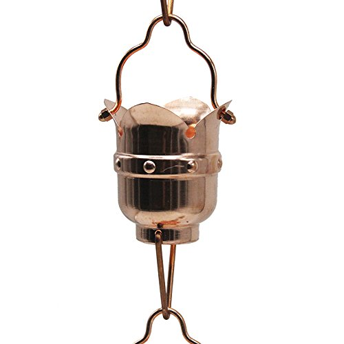 8.5ft Japanese Style Chime Bell Pure Copper Rain Chain GBGRC01046 by Gens