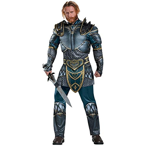 Disguise Men's Plus Size Warcraft Lothar Muscle Costume, Multi, XX-Large -
