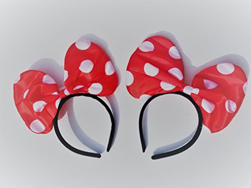 Minnie Mouse Ligth up Headbands Set of 2 red with Polka Dots
