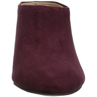 Amazon Brand - The Fix Women's Celeste Pointed-toe Block-heel Mule, wine, 8 M US: Shoes