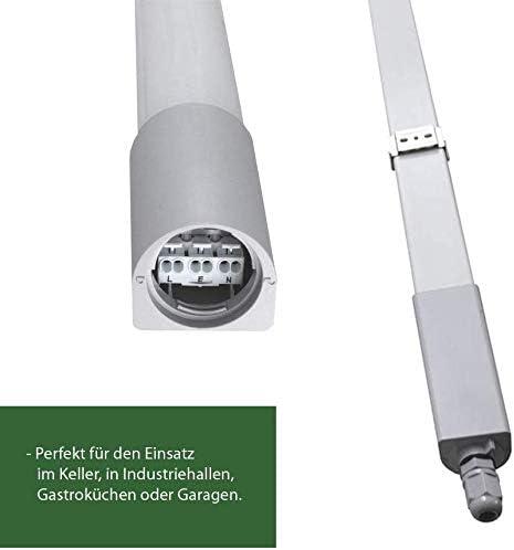 LED Feuchtraumleuchte, 33 Watt, 4000K reinweiß, 4000lm, IP65 wasserfest, schlagfest, 120cm, Feuchtraumwannenleuchte, durchgangsverdrahtet. Leuchte für Keller, Werkstatt, Halle, Garage, Lager (33)