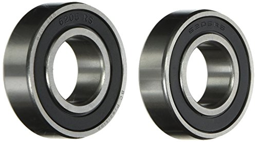 Two (2) 6205-2RS Sealed Bearings 25x52x15 Ball Bearings / Pre-Lubricated (Pack of 2)