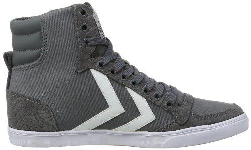 Gris Adulte Stadil Weiß Hautes Grau Weiß Mixte Slimmer High grau Sneakers Hummel ZqYHw0W