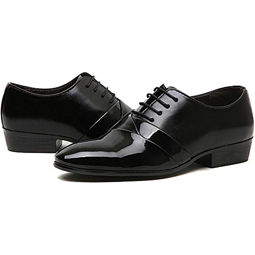 Man Black White Shoes Marriage Design Wedding Oxford 2018 Leather Formal Dress Black wfnqXFd
