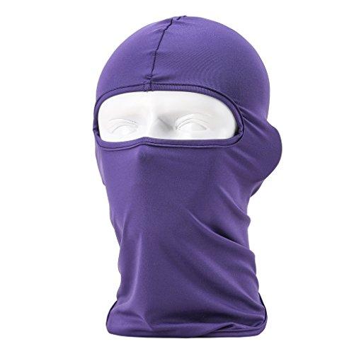 ECYC® Balaclava hood face mask face mask costume lot face mask motorcycle helmet Full Face Mask fashion Balaclava neck protection Fleece snowboard Balaclava Fleece for Hiking [ Purple ]