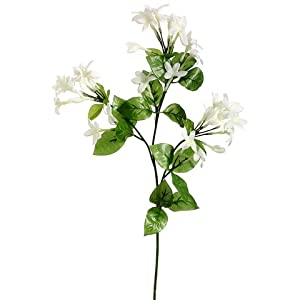 "27"" Stephanotis Silk Flower Stem -White (Pack of 12) 30"