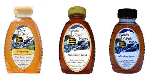 Winter Park Honey High Mountains Pack 48oz (Mountain Gold, Meadowfoam and Raspberry honey - 16oz each)