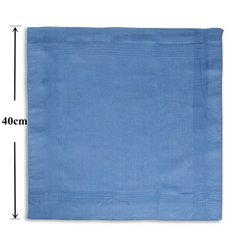 Handkerchiefs 100 Colors 5 Color Assorted Cotton with Pure Stiching HH4wEqFB