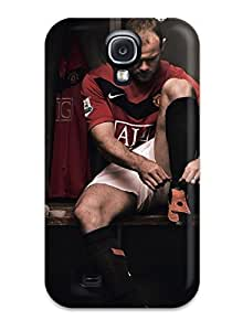 Quality CaseyKBrown Case Cover With Wayne Rooney Using Shoes Nice Appearance Compatible With Galaxy S4