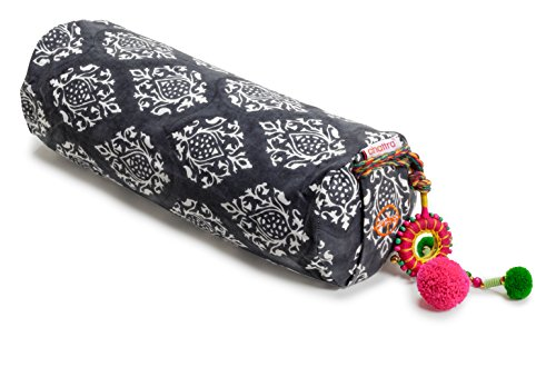 Chattra Charcoal Darpan Neck Cushion