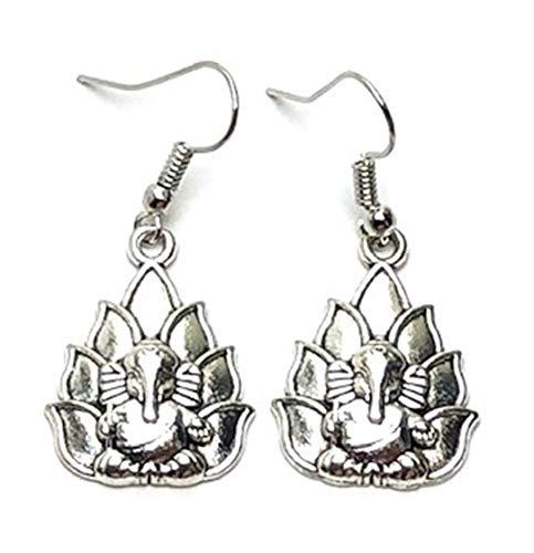 Festive : Ganapati/Ganesh Dangle Fish Hook Earrings For Women / AZAEGG201-ASL ()