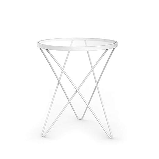 Side Table Mesa Auxiliar pequeña de Cristal para Mesa de café ...