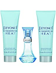 Beyonce Beyonce Heat Shimmer 3pc Set - 1.0 Ounce Edp, 2.5 Ounce Shower Gel, 2.5 Ounce Body Lotion, 6 Ounce