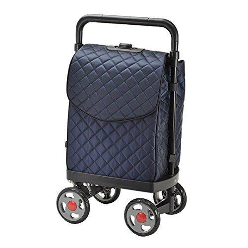 VALENTINO VISCANI (ヴァレンチノヴィスカーニ) 4輪ショッピングカート (紺) B013JONTVA  紺