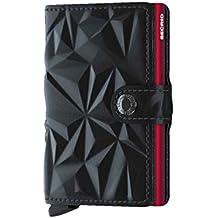 SECRID - Secrid Men's Mini wallet 3D Black Genuine Leather RFID Safe Card Case for max 12 cards