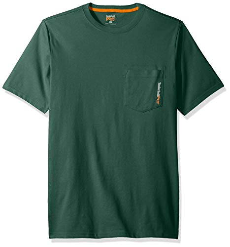 Timberland PRO Men's Base Plate Blended Short-Sleeve T-Shirt, Spruce, M