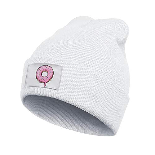 Not applicable Unisex Donut Lover Doughnut Day Beanie Hat Mens' Womens Stretchy & Soft Knit Hats