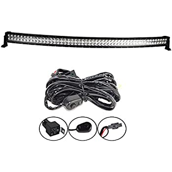 """Willpower 52"""" 55 inch 300W Combo LED Work Light Bar + Wiring Harness Kit for Truck Car ATV SUV 4X4 4WD Jeep Truck Driving Lamp 10-30DC"""