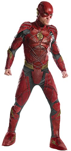 Rubie's Justice League Adult Grand Heritage Flash Costume, (Justice League Cyborg Costume)