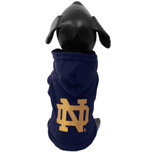 All Star Dogs NCAA Notre Dame Fighting Irish Cotton Hooded Dog Sweatshirt, Small